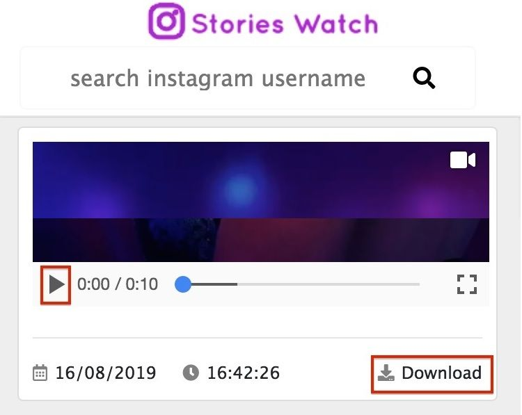 Instagram Story Downloader Web Online - Stories Watch